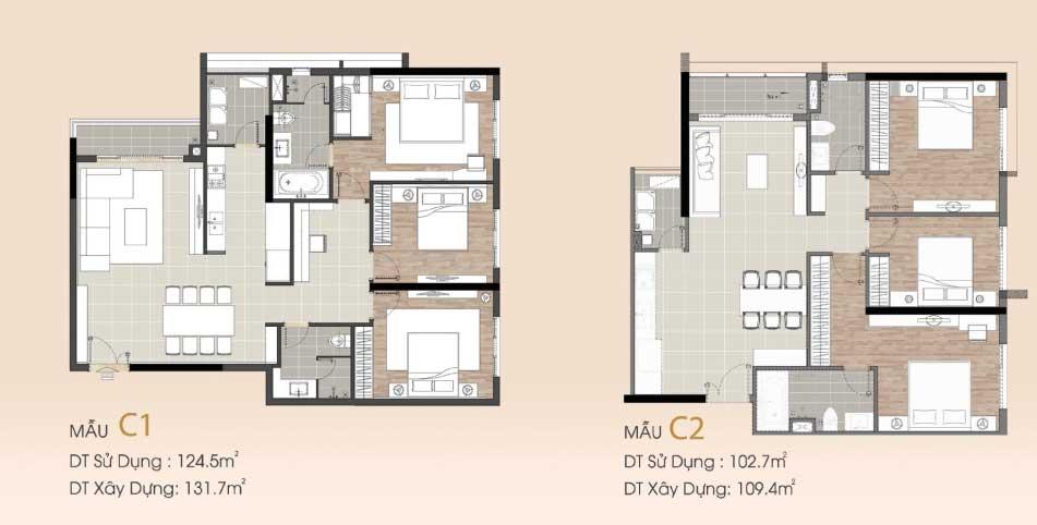 Thiết kế 3 phòng ngủ Sarmi