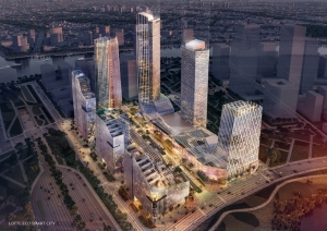 Phối cảnh dự kiến dự án Lotte Eco Smart City - Thủ Thiêm
